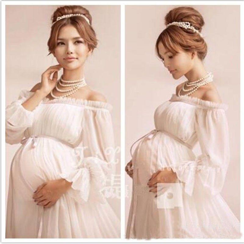 2021 Elegant Lace Maternity Dress Photography Props Long Dress Pregnant Women Clothes Fancy Pregnancy Photo Props Shoot Hamile Elbise From Zjh18 29 15 Dhgate Com
