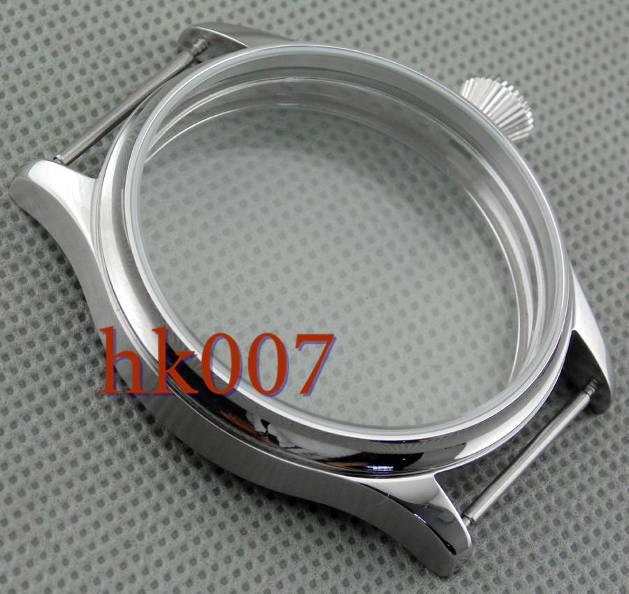 P330 Corgeut 44mm Cassa in acciaio inossidabile Fit 6497/6498 Orologio da polso Seagull ST36