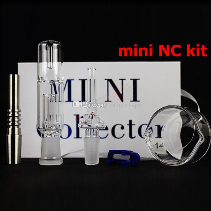 Mini Collector Set Nail Smoking Pipe Atomizer 10MM 14MM 19MM Size Dry Herb Wax Vaporizer Kit DHL Free Shipping