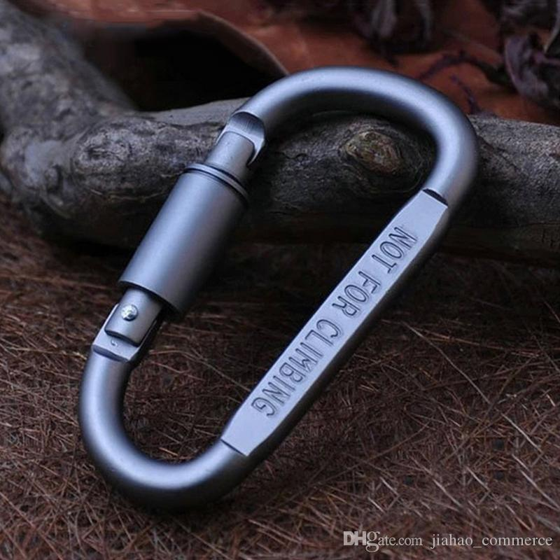 Outdoor Safety Buckle Aluminum Alloy D Shape Climbing Button Carabiner Snap Clip Hook Keychain Keyring Carabiners Camping Hiking Hot Sale