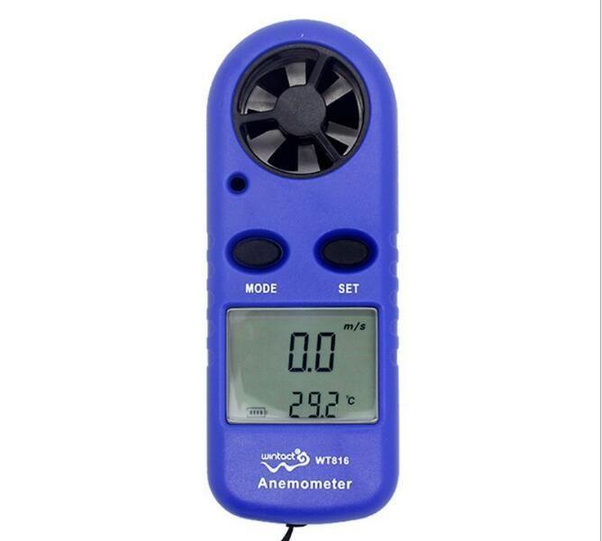 미니 디지털 풍속계 풍속 온도계 테스터 풍향계 및 LCD 백라이트 디스플레이