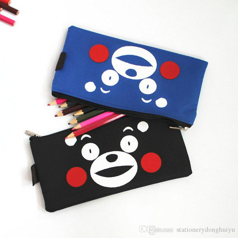 Free Shipping New Design Cartoon Cloth Pencil Bag Pen Cases Creative School Stationery Supplier Holder For Children Kids Gifts