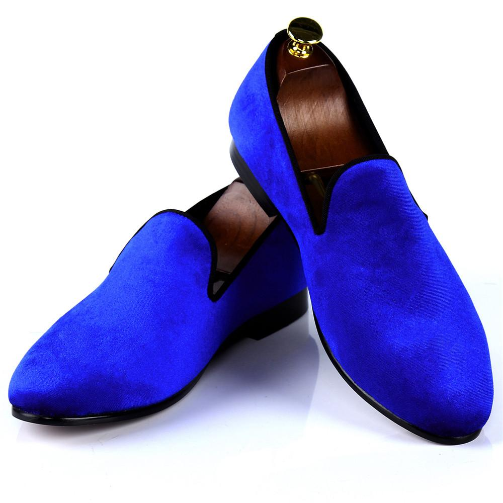 Women Handmade Shoes Blue