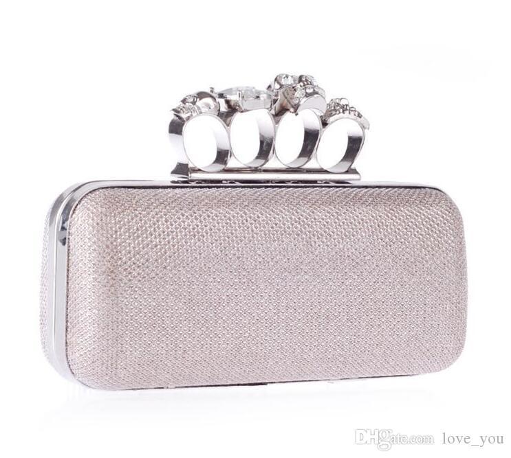 Nuovi strass di cristallo borse di dito diamanti anello borse borse da sposa portaspetti matrimonio frizione a mano donne vcijh