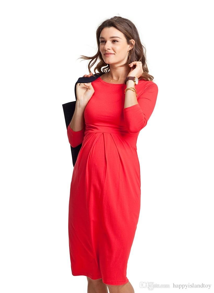 Großhandel Valentine Geschenk Umstandsmode Kleider Elegantes Neues ...