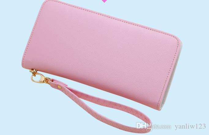 6686985759 ... New Ladies Wallets PU Leather Women Wallet Lady Party Clutch Patent  Pink Purse Female Cute Card ...