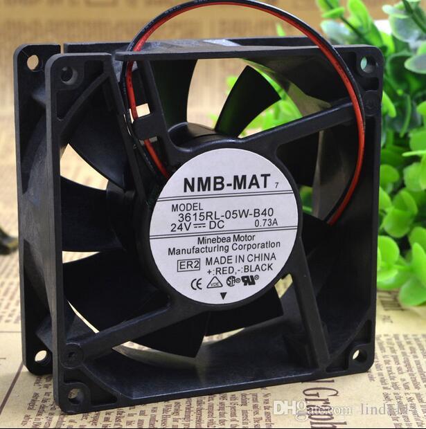 NMB-MAT 3615RL-05W-B40 9038 24V 0.73A 9CM 2-fach wasserdichter Frequenzumrichterlüfter