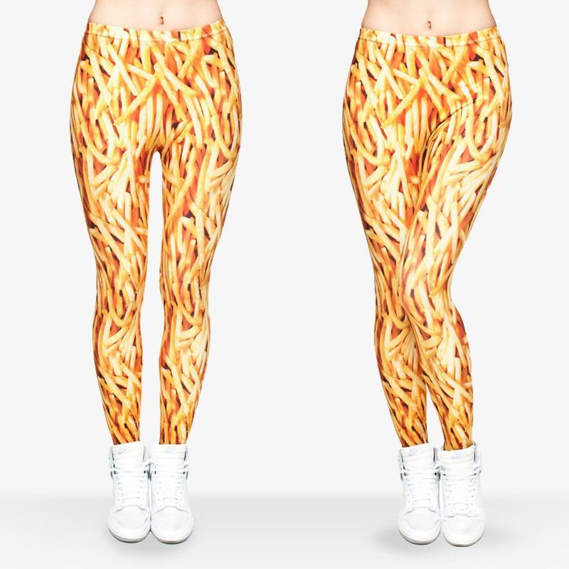 Fashion Star Girls 3D Graphic Colourful Print Kids Stretchy Leggings Pant Yoga Gym Funky