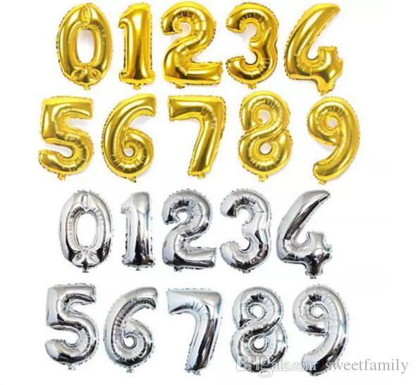 40 дюймов 0-9 количество воздушных шаров игрушки для свадьбы День Рождения рождественские украшения партии мода горячая фольга шар 50 шт.=1Number=1Bag