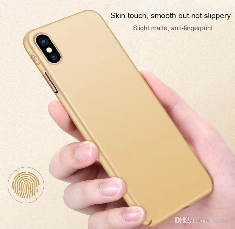 wholesale dealer fbc30 b9524 For IPhone X Matte Hard PC Case Luxury 360 Protection Slim Ultra Thin Full  Cover Frosted Back Skin For IPhone 8 7 6S Plus Tough Cell Phone Cases Cell  ...