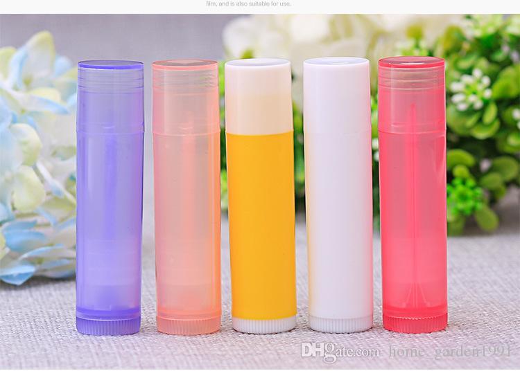 5g 5 ml Ruj Tüp Dudak Balsamı Konteynerler Boş Kozmetik Konteynerler Losyon Konteyner Tutkal Sopa Temizle Seyahat Şişe 7 renkler