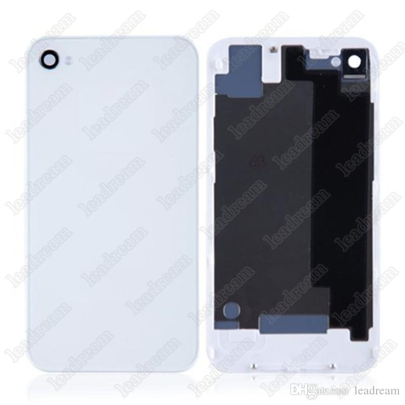 Back Glass Full Housing Back Cover Battery Cover with Flash Diffuser for iPhone 4 4s free shipping