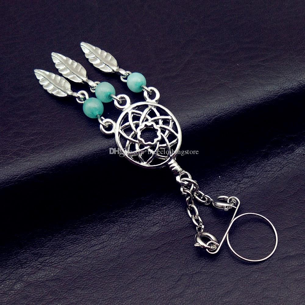 Stainless Steel fake Nipple Rings Jewelry Trendy Dream catcher Nipple Barbell Piercing Ring clip on Body Piercing Jewelry