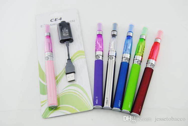 KIT EGO Kits de démarrage de cigarette électronique eGo Blister de qualité supérieure avec atomiseur CE4 et batterie ego t de 650 mAh, 900 mAh