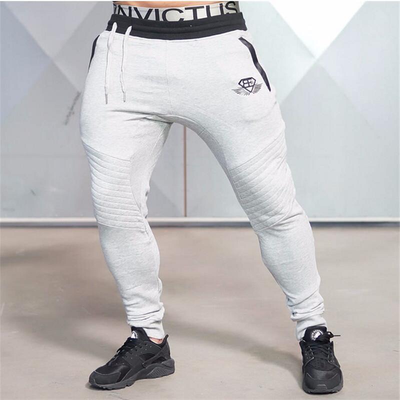 Großhandel 2016 neue Baumwolle Markenkleidung Herren Jogger Hosen Herrenhosen Casual Brief elastische Taille Hosen