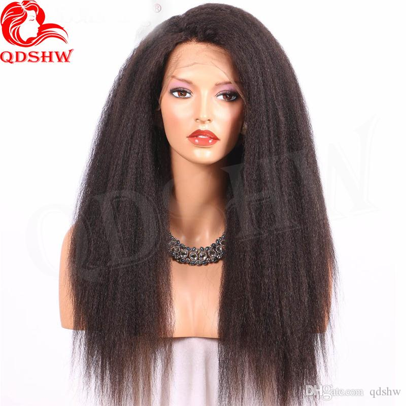 Human Hair Lace Front Wigs Kinky Straight Virgin Brazilian U Part Wigs Glueless 360 Frontal Full Lace Wigs Pre Plucked With Baby Hair