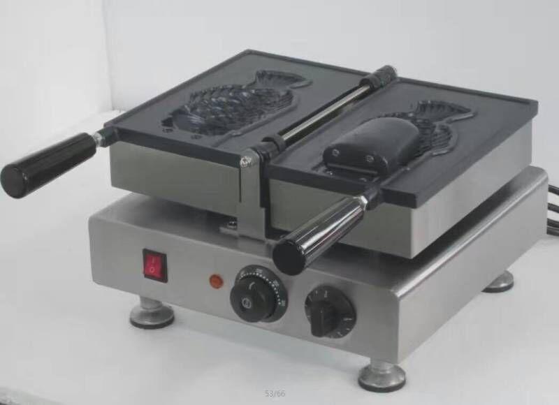 Frete grátis ~ Grande Peixe Waffle Maker Ice Cream Taiyaki Máquina com superfície antiaderente