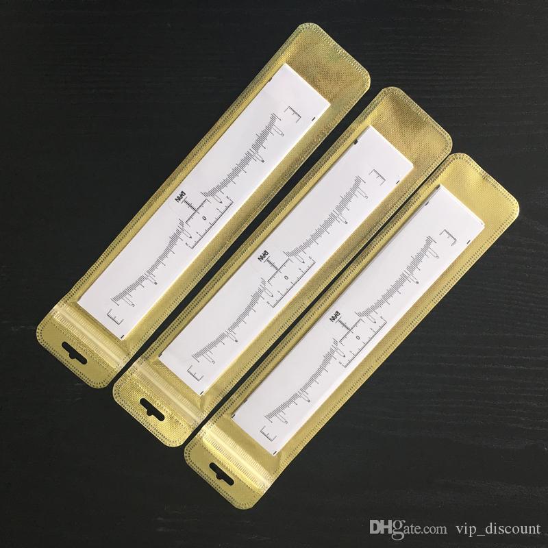 10 pçs / lote Descoberto Microblading Preciso Sobrancelha Governante Ferramentas de Modelagem Permanente Maquiagem Sobrancelha Medição Adesivo Para Tatuagem