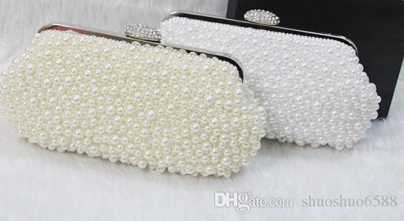 Designer heißen neuen Stil verkaufen Brauthandtaschen handgemachte Perle Handtasche Make-up Tasche Hochzeit Abend Parteibeutel shuoshuo6588