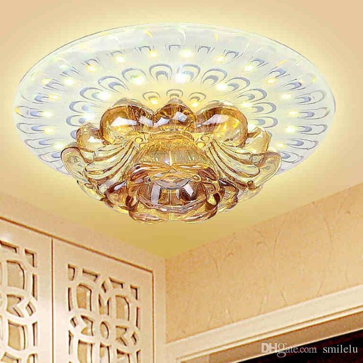 15 W Moderne Led Cristal Plafond Corridor Décoration Plafond Lampes Salon Allée Porche Acrylique Maison Intérieur Ghting