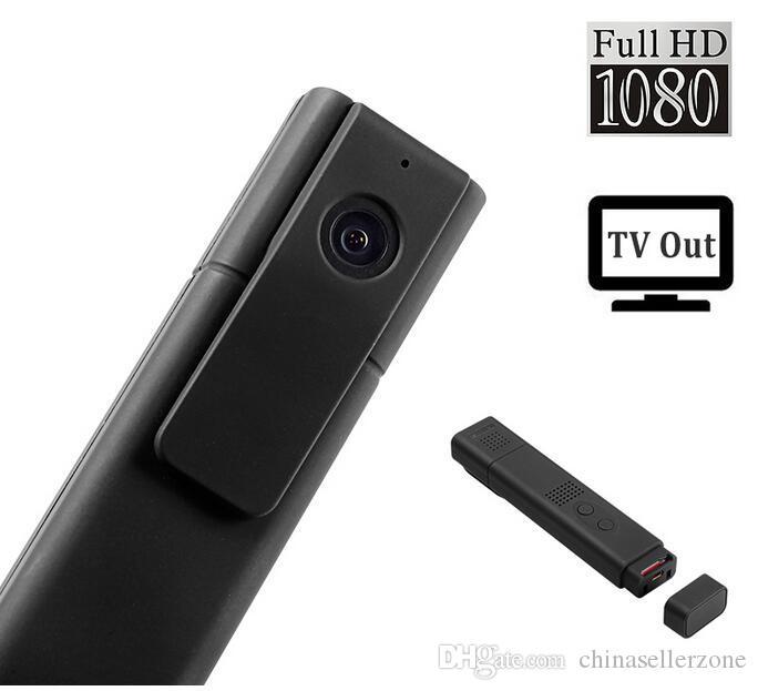 T189 8-MP-Objektiv Full HD 1080P Mini-Stift-Sprachaufzeichnungsgerät / Digital-Videokamera-Recorder Portable TV-Out-Taschenstift-Kamera