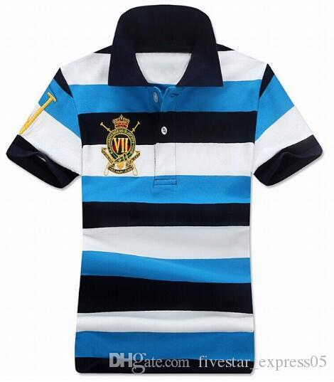 Top Quality US 2017 Women Striped Polo Shirt Big Horse Short-Sleeve Polo shirt Grils Polos Homme Mens Camisas Ladies Polo Shirts