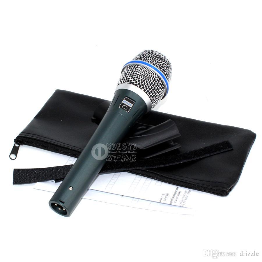 Quality BETA87A BETA 87A Karaoke Mic Vocal Wired Cardioid Dynamic Microphone Mike For BETA87C Mixer Audio Sing Microfone Mcrofono Mikrofon