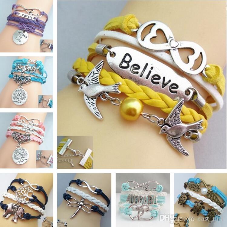 Good A++ Bursts of friendship multi-layer bracelet hand rope FB211 mix order 20 pieces a lot Charm Bracelets