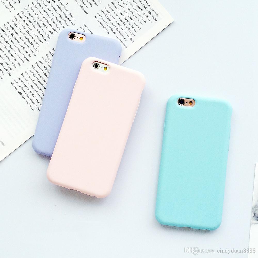 Silicone Cas De Téléphone Pour IPhone 5 5s 6 6 S Plus Macarons Couleur Doux Mat Givré Case Pour IPhone 7 7 Plus Protection Shell Proposé Par ...