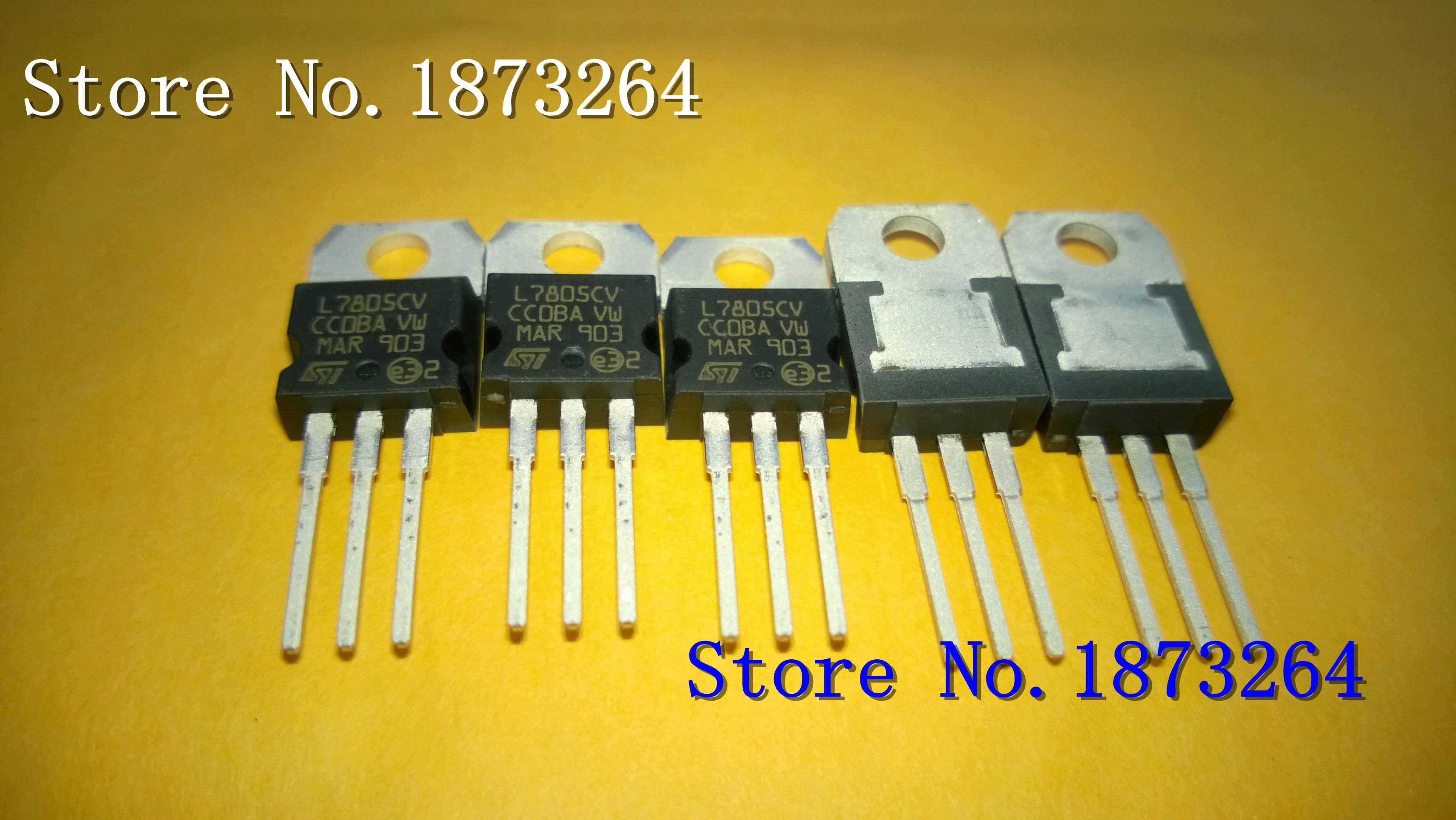 Freies Verschiffen L7805CV L7805 5V 1.5A 7805 TO220 neu und ursprünglich 50PCS / LOT