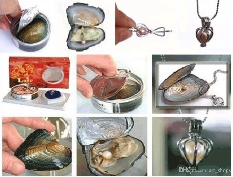 nouveau cadeau populaire Sterling Wish coeur pendentif collier de perles ensemble
