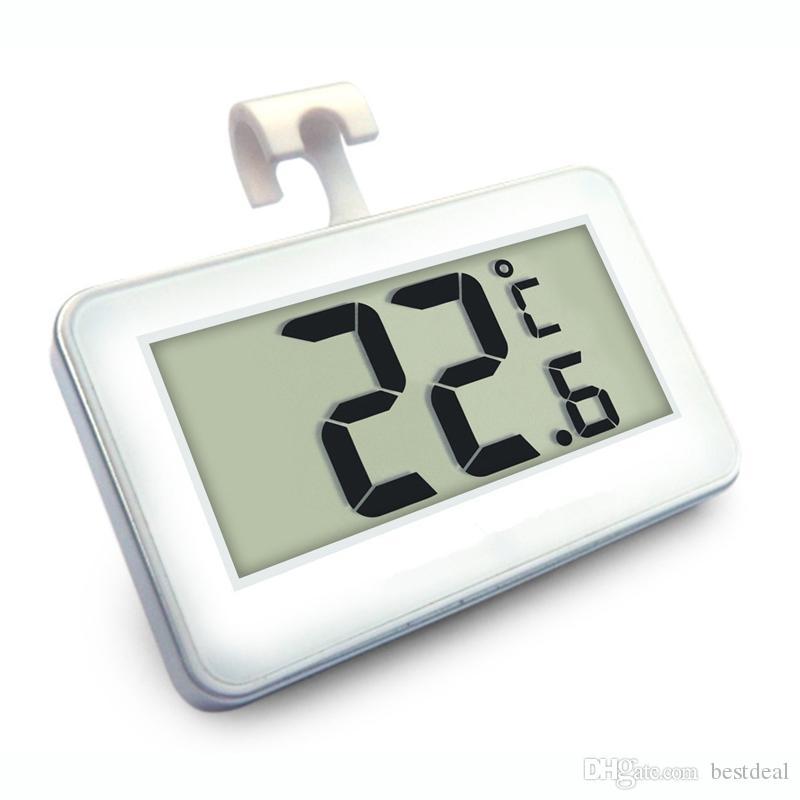 디지털 냉장고 냉동고 온도계 프로스트 알람 2017와 고정밀 방수 전자 Thermograph 냉장고 온도계 새로운 기능