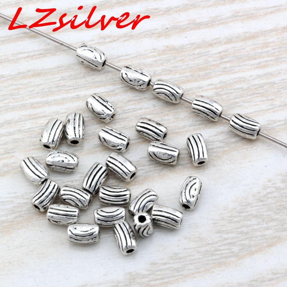 الحار ! 500 قطع العتيقة الفضة سبائك الزنك برميل الخرز فاصل 3.5x5.5 ملليمتر مناسبة ل مطرز سوار diy مجوهرات d1