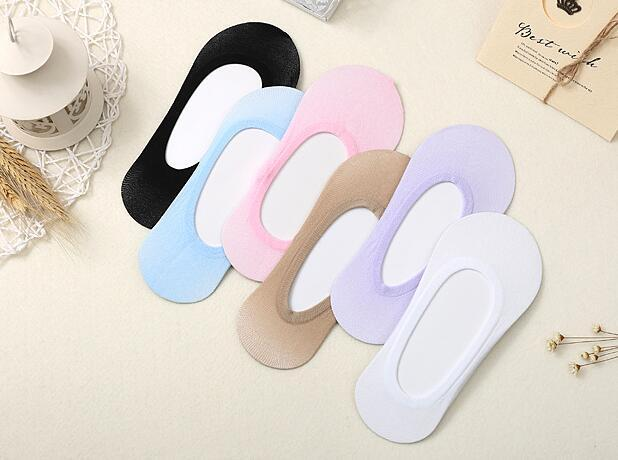 Wholesale Womans Fashion Cotton Unsichtbare kurze Socken / Sock Slippers 6 Farbe (SM-15F)