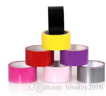Top quality sex bondage No Glue Electrostatic Adsorption Adhesive Tape Sexual Foreplay Flirting ve Static Film teaser toy for Couples