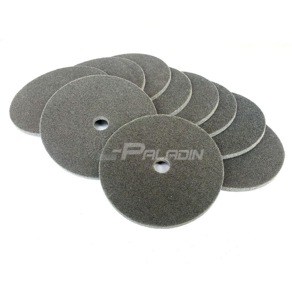 10 stücke 150 * 6mm S / C vlies Rad Nylon Polierscheibe 7 P P180 für Edelstahl Schweißpunkt schleifen