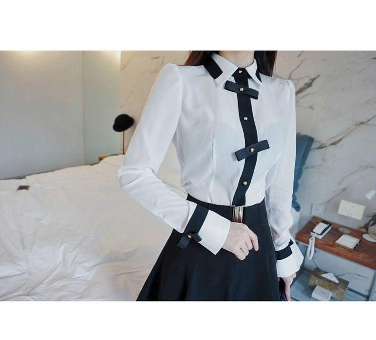 Großhandel Hohe Qualität Karriere Arbeit Shirts Damen Weiße Bluse Büro Tragen Formale Weißes Hemd Langarm Tops Von Linani, $36.86 Auf De.Dhgate.Com |