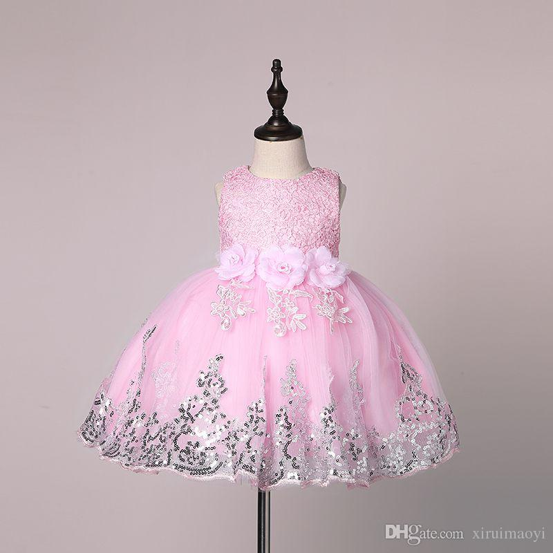 US Summer Kid Baby  Girl Clothes Princess Dress Party Holiday Floral Dresses