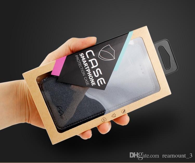 Caja de empaquetado del embalaje del paquete de papel al por menor de encargo 200pcs para samsung galaxy s6 para las cajas del teléfono del caso del iphone 6