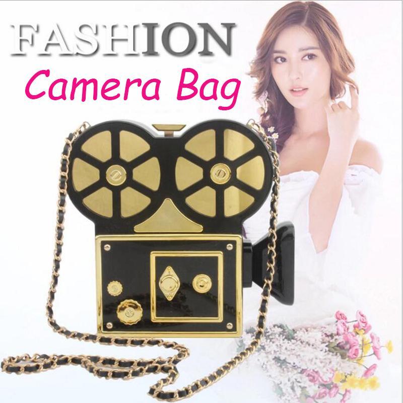 Настроить бренд-дизайнер камеры вечерние сумки акриловые видеокамеры сумки сумочки женщин DV Messenger фотограф муфта прожектор сумка