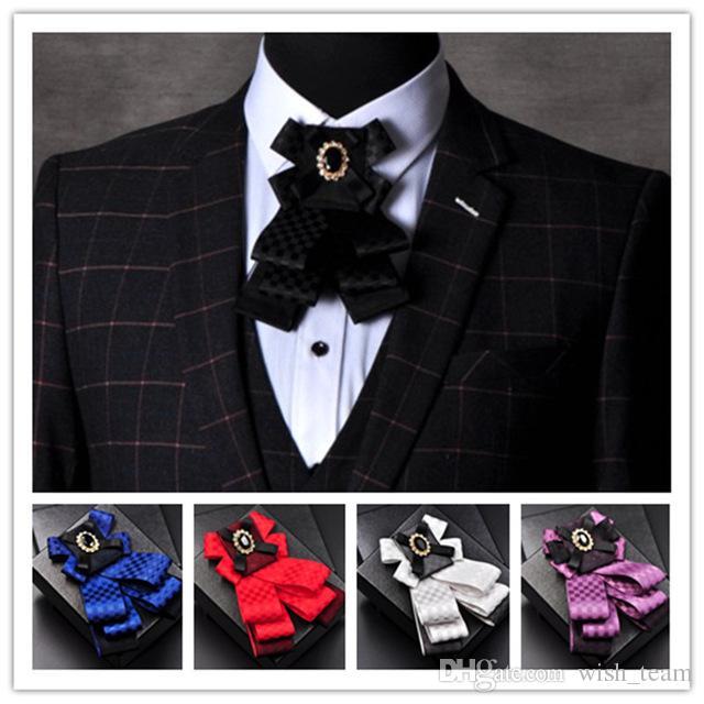 Caballero Pajarita Mariposa Hombres Formal Comercial Corbata Pajarita Masculino Color Sólido Marriage Pajaritas 5 colores 2017 El Más Nuevo