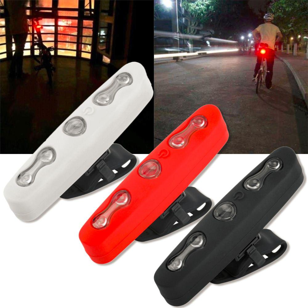 Bicycle Bike Super Bright 5 LED Lamp Cycling Rear Tail Night Safety Light free shipping