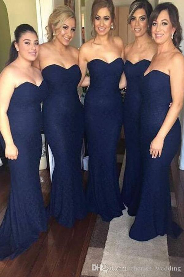 Vestidos para damas de honor en color azul