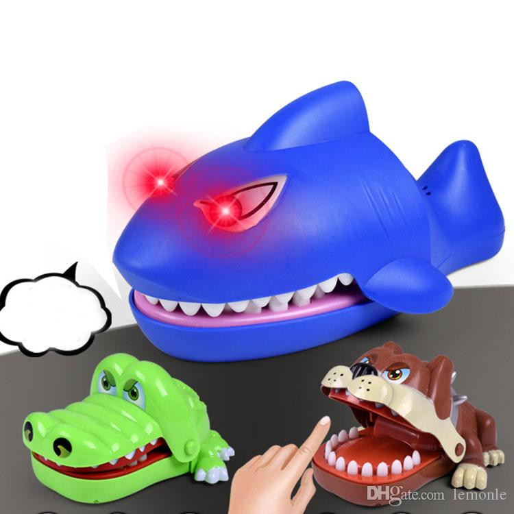 Creative Novelty Prank Dentist Bite Finger Interactive Board Game Shark Crocodile Dog Joke Toys Party Game for Adults and Kids 10pcs