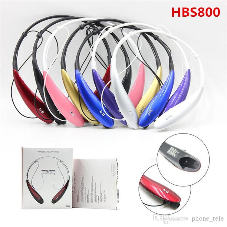 Tone HBS-800 HBS 800 Wireless Bluetooth Headphones Earphone HBS800 Sports Stereo Headset Neckband Earbuds Headphone for iphone Samsung Sony