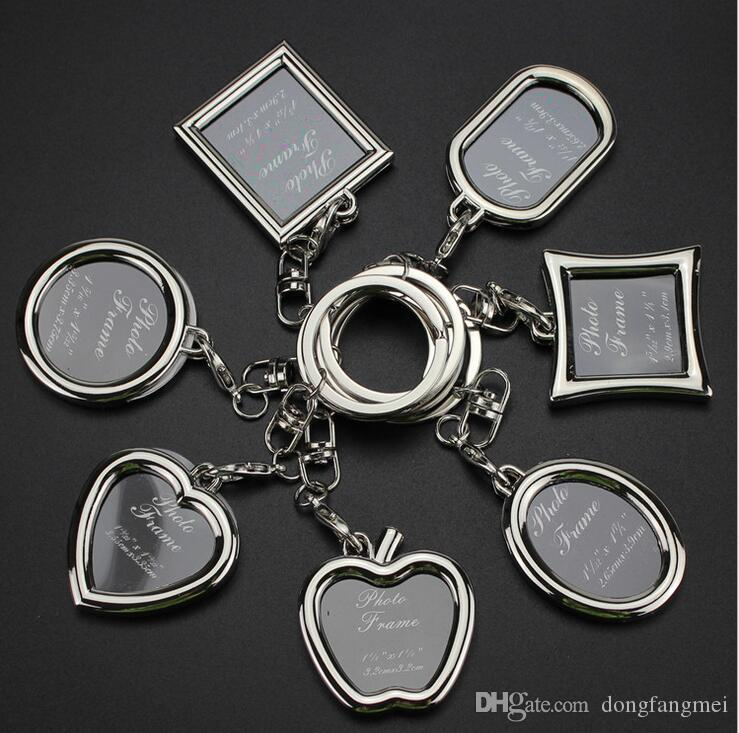 Hot sale Creative couple picture frame personality love key chain photo key ring customization KR013 Keychains mix order 20 pieces a lot