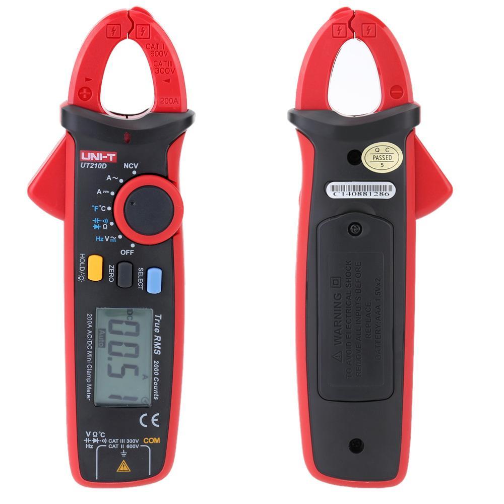 Freeshipping Digital Voltage Resistance Capacitance Clamp Meter Multimeter Temperature Measure multitester Auto Range multimetro