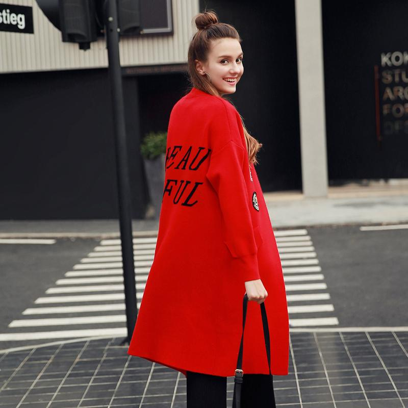 Maglioni da donna all'ingrosso- quintina 2021 moda donna cardigan maglia maglione stampato stile lungo aperto sittch dimensione libera