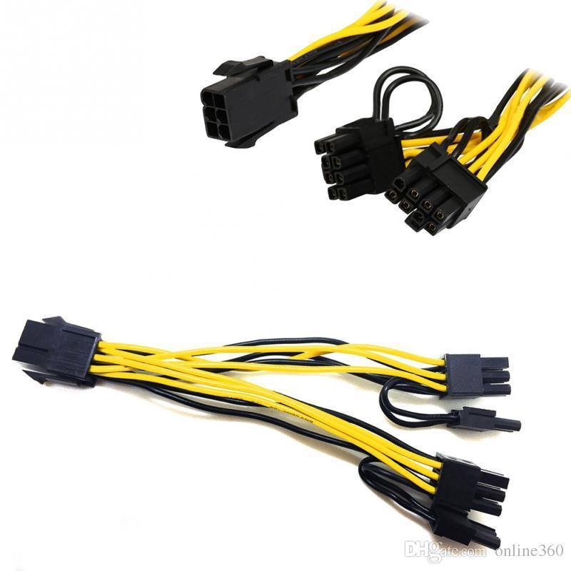 6 Pin to 8 Pin PCIe Cable for GPU Mining FAST shipping from within the US 6+2