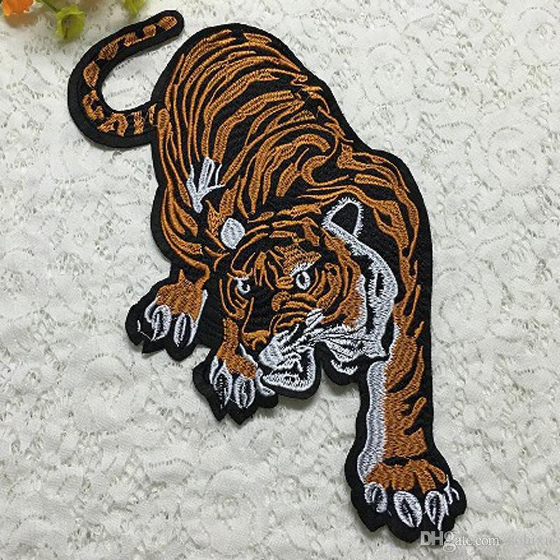20pcs Motorcycle Jacket Patch For Clothes Tiger Sport Sew On Patches parches Embroidered Fabric Patchwork Biker Badge Appliques Accessories